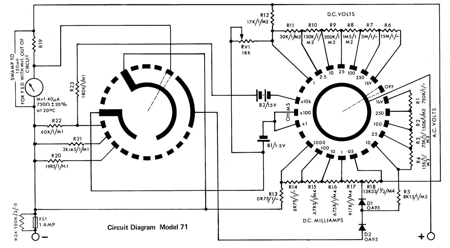 avo analogue meters rh richardsradios co uk sanwa analog multimeter circuit diagram analog multimeter circuit diagram