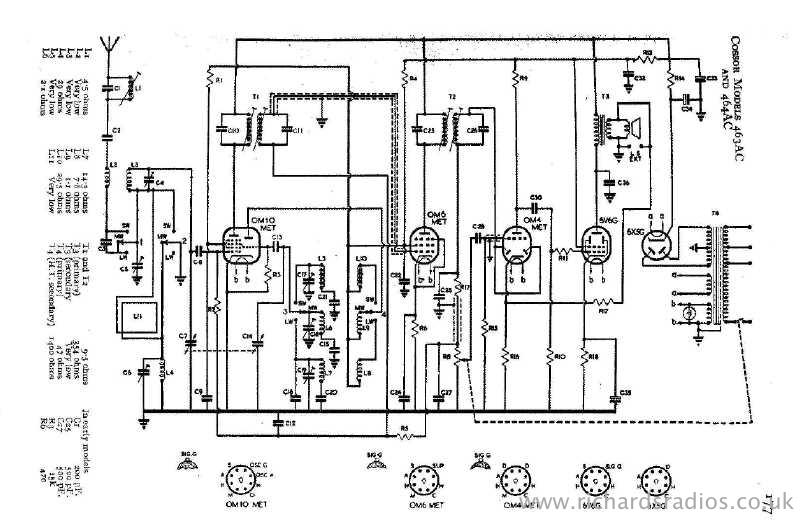 cossor valve radio model 463