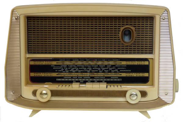 French valve radio 1950's