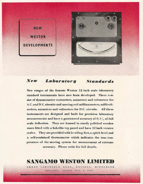 sangamo advert from 1948