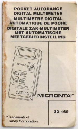 tandy dmm rh richardsradios co uk Micronta Multimeter 22 185A Micronta Multimeter Manual