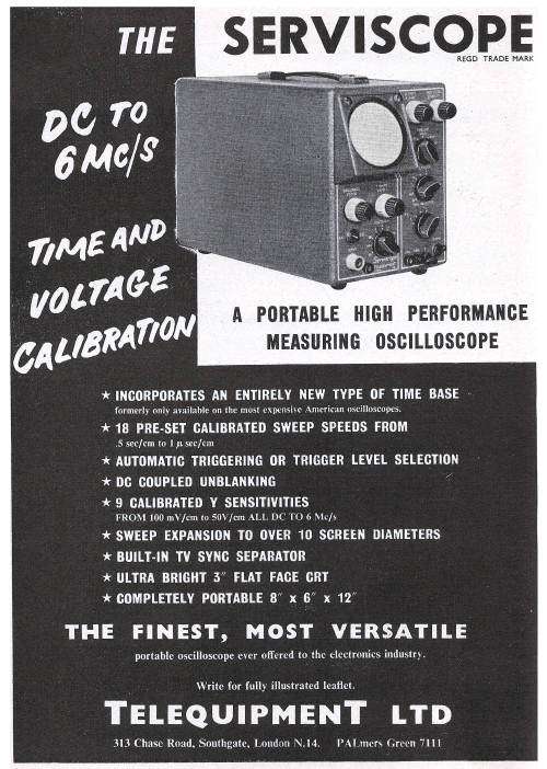 telequipment advert 1958