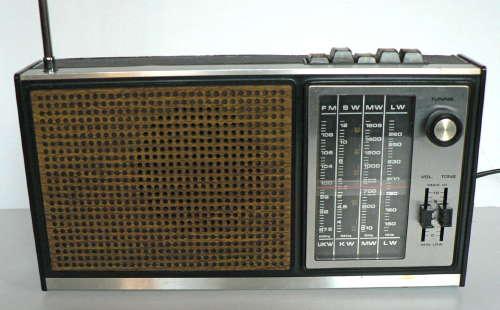 Vintage Black Transistor Radio Isolated On White Background Stock ...
